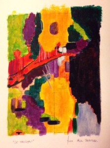 Le Talisman - Paris 2013 d'après Paul Sérusier ... Watercolor