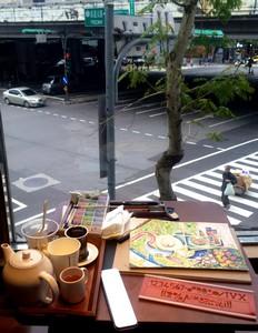 Peinture dans un café SB de Taipei - Mars 14